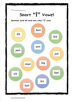"Common Core Short "" i "" vowel Practice Packet"