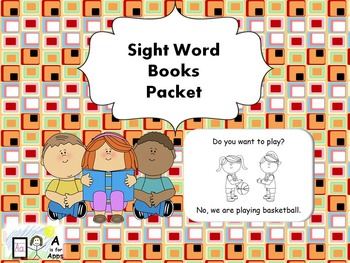 Kindergarten Sight Word Books Packet