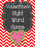 Common Core Sight Word Matching Game - Valentine's Day Themed