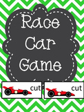 Editable Common Core Sight Word and CVC Matching Game - Race Car Theme