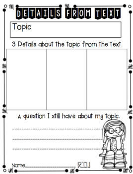 Reading: Informational Text CCSS Practice and Assessment