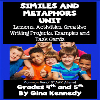 Similes and Metaphors Lesson, Activities, Writing Project,
