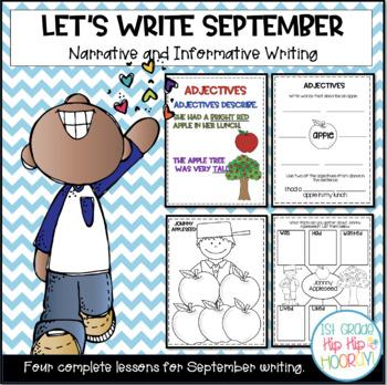 Let's Write...September...ELA CCSS