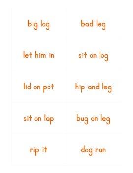 Common Core Skills Strand Phrase Cards Kindergarten Unit 5- FREEBIE