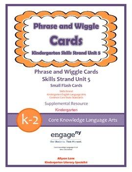 Common Core Skills Strand Phrase Cards Kindergarten Unit 5