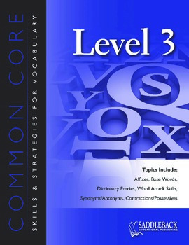 Common Core Skills & Strategies for Building Vocabulary Level 3