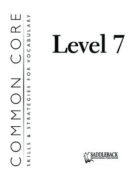 Common Core Skills & Strategies for Building Vocabulary Level 7