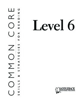 Common Core Skills & Strategies for Reading Level 6
