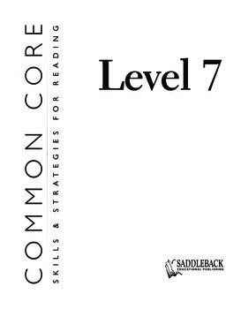 Common Core Skills & Strategies for Reading Level 7