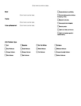 Common Core Small Group Math Lesson Template