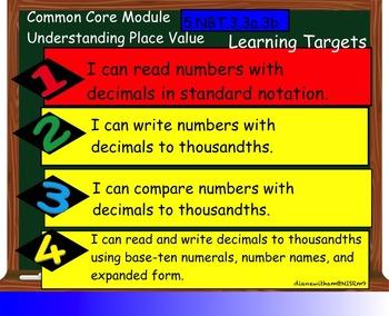Common Core Smart Board Lesson 5.NBT.3.3a.3b/Decimals