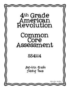 Common Core: Social Studies: American Revolution Common Assessment