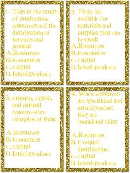 Common Core: Social Studies: Basic Economic Concept