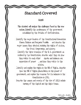 Common Core: Social Studies: Bill of Rights Common Assessment