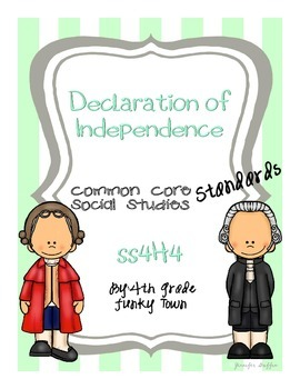 Common Core: Social Studies: Declaration of Independence