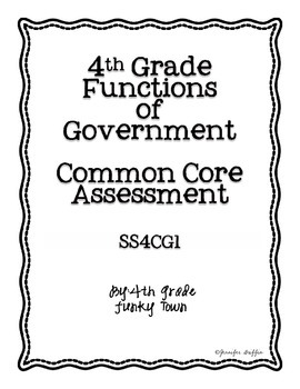 Common Core: Social Studies: Functions of Government Commo