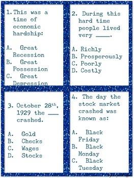 Common Core: Social Studies: Great Depression