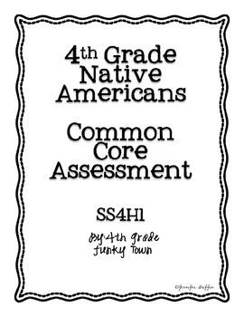 Common Core: Social Studies: Native Americans Common Assessment