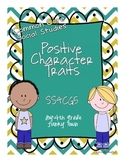 Common Core: Social Studies: Positive Character Traits