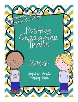 Common Core: Social Studies: Positive Character Traits