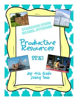 Common Core: Social Studies: Productive Resources