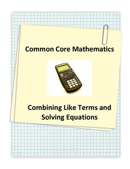 Common Core Solving Equations