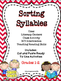 Primary Reading:  Sorting Syllables Cut and Paste Activity Book