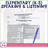 Common Core Speaking & Listening Rating Scales {K-5}