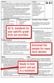 Common Core Speaking & Listening Standards & Guiding Questions Handbook - 1st
