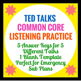 Common Core Speaking and Listening : TED Talk Analysis For