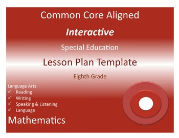 Common Core Special Education Interactive Lesson Plan Temp