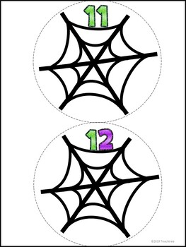 Common Core Spider Web Counting 1-12