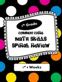 Common Core Spiral Math Review - 1st 9 Weeks