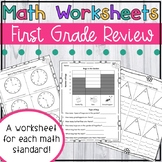 1st Grade Review Math Worksheets - Spring Common Core Math Worksheets