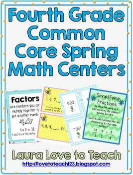 Common Core Spring Themed Math Centers
