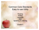 Common Core Standands - Print and Keep Track - Grade 5