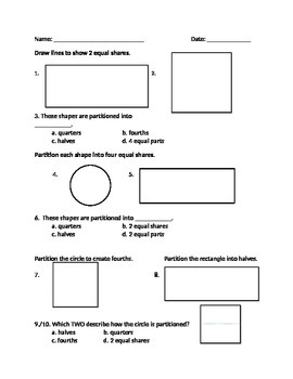 Common Core Standard 1.G.3 Worksheets
