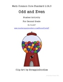 Common Core Standard 2.OA.3 Teaching Help- Odd and Even Number Activity
