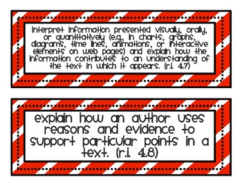 Common Core Standard Cards for 4th Grade