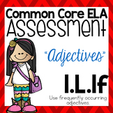 Common Core Standard Language Arts Assessment 1.L.1f (Adjectives)