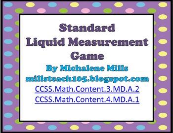 Common Core Standard Liquid Measurement Game