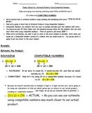 Common Core Standard Math Compatible Numbers Made Easy - Envision Go Math