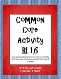 Common Core Standard RI 1.6 Information from text and illustrations