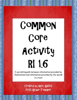 Common Core Standard RI 1.6 Information from text and illu