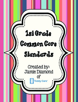 Common Core Standards- 1st Grade