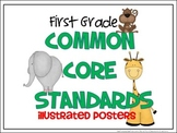 Common Core Standards Posters - 1st Grade - ELA & MATH (HALF PAGE)