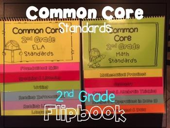 Common Core Standards Guide List 2nd Grade Flipbooks