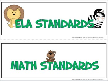 Common Core Standards Posters - 3rd Grade - ELA & MATH (HALF PAGE)