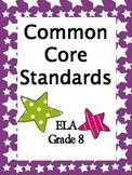 Common Core Standards 8th Grade