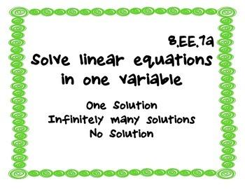 Common Core Standards - 8th grade math